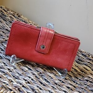 Fossil red leather wallet